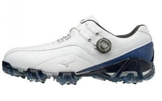 【50015】ジェネム008ボア EEE(ゴルフ)[メンズ]ホワイト・ブルー