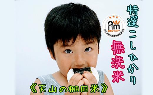 A48-O 棚田米《コシヒカリ【巧味】無洗米》2㎏×2袋(真空パック)
