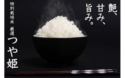 タンパク質含有率が山形県の基準値よりもさらに厳しい基準で選ばれた、美味しいお米「厳選つや姫」