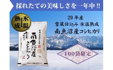 氷温熟成 雪蔵貯蔵米 南魚沼産こしひかり5kg