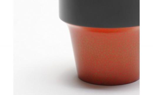 aeru 青森県から 津軽塗りの こぼしにくいコップ(橙七々子塗り)