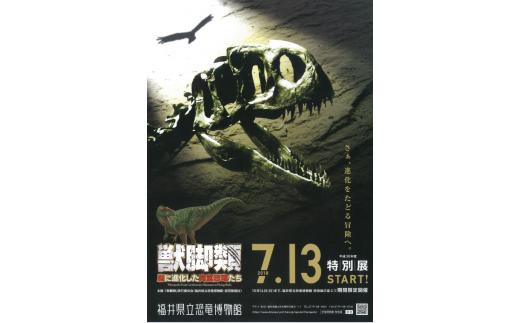 県立恐竜博物館【特別展観覧券一般2名】(寄付の使い道に「恐竜博物館の魅力向上応援」を選択された県外在住の方のみ)