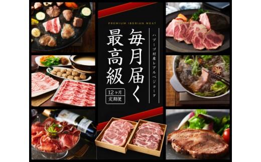 No.082 【定期便】12か月イベリコ豚プレミアムセット
