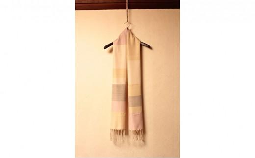 [№5802-0314]結城紬 艶色温度を楽しむショール 真珠のパレット