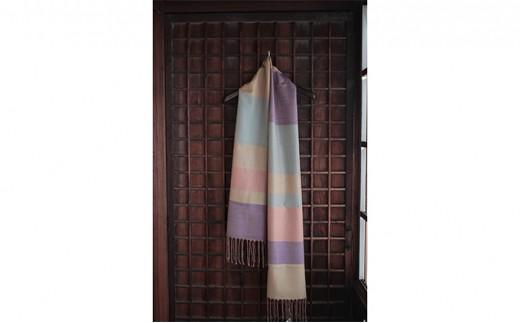 [№5802-0312]結城紬 艶色温度を楽しむショール 色彩のセレモニー