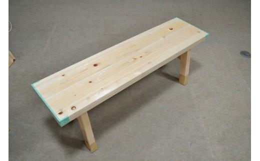 木工桧ベンチ
