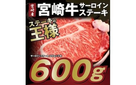 特産品番号111  家族でステーキ!「宮崎牛サーロインステーキ3枚セット」