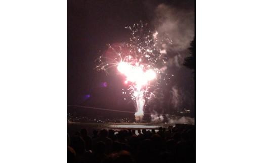 「ふるさと寄附」桟敷席イメージ(桟敷席から見た花火のイメージ)