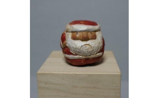 M0201木彫り さんだのサンタさん 6cm