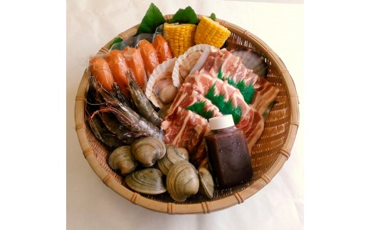 海鮮とお肉のバーベキューセット