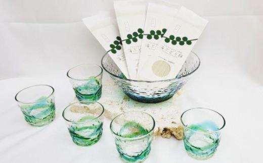 【琉球ガラス】デコ大鉢とデコソバチョコセット