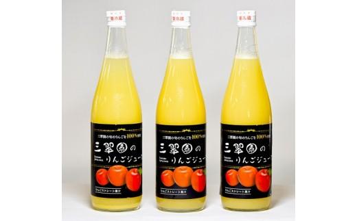 B01-19 三翠園のリンゴジュース 3本入