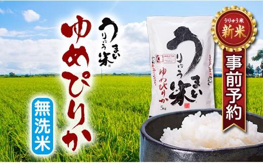 【新米予約】[B-02] うりゅう米ゆめぴりか-無洗米-(5kg)2袋 H30年度