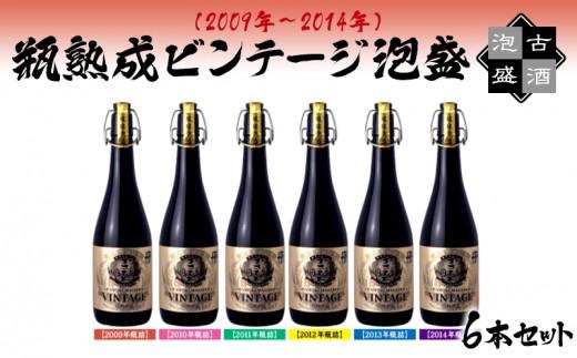 瓶熟成ビンテージ泡盛6本セット(2009年~2014年)