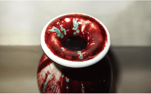 YB02 耀変辰砂肩丸花瓶-3