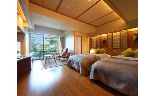 No.054 松島温泉 湯元松島一の坊 ビューバス付き眺望和ツイン1泊2食付きペア宿泊券