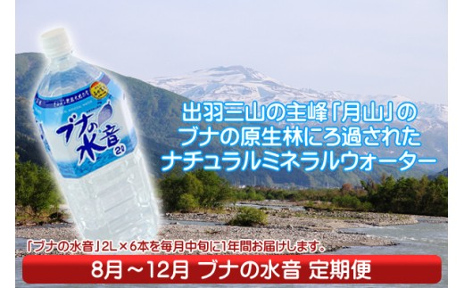 【F-828】月山の名水!ブナの水音定期便(8月中旬より配送開始 入金期限:H30.7.25)