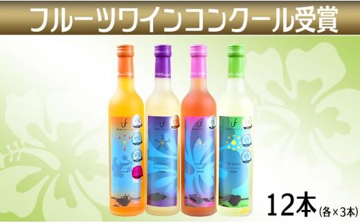 沖縄産 フルーツワインコンクール12本受賞セット