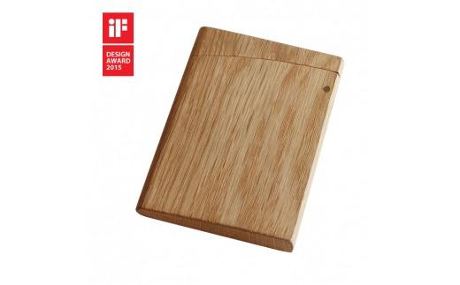 15S-0007 INRO ナチュラル【印籠をモチーフにした木製カードケース】