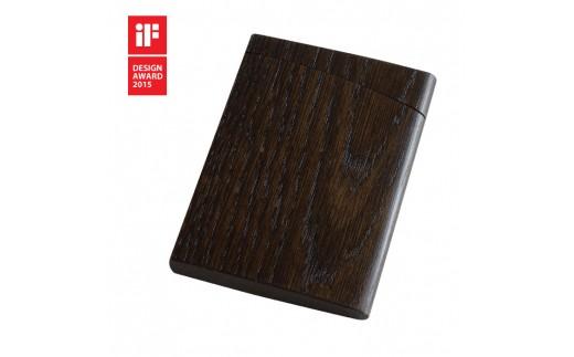 22S-0001 INRO 黒色漆【印籠をモチーフにした木製カードケース】
