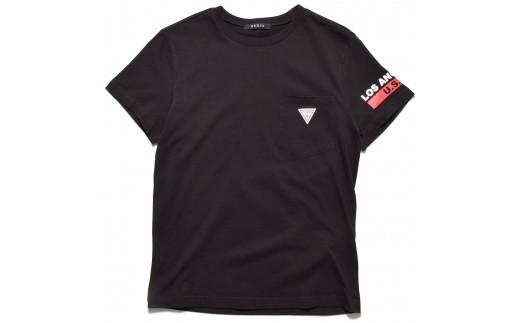 GUESS メンズ 半袖 トライアングル ロゴ ポケット Tシャツ 【ブラック】 MI2K8504MI_0Y42