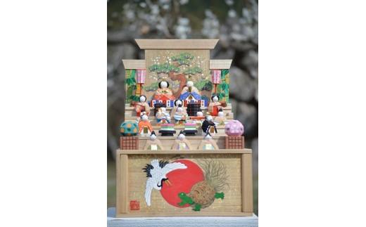 30-21 奈良一刀彫 段雛