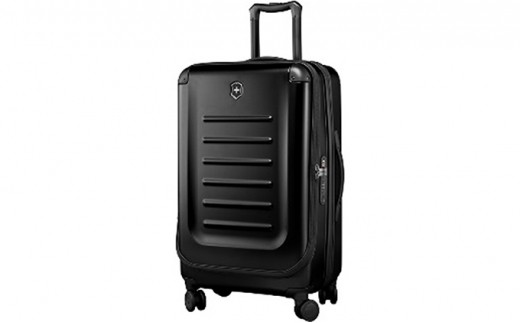[№5809-2274]ビクトリノックス(VICTORINOX)スーツケース スペクトラ ラージ エキスパンダブル  約77-112L ブラック