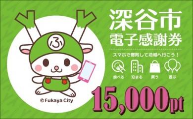 [№5674-0343]深谷市電子感謝券15,000pt