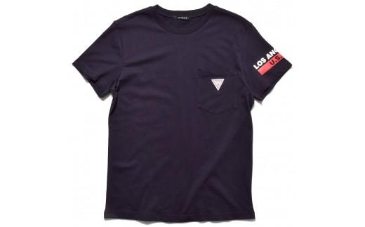 GUESS メンズ 半袖 トライアングル ロゴ ポケット Tシャツ 【ネイビー】 MI2K8504MI_0Y43