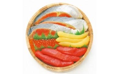 木樽入 紅鮭・魚卵三種詰合せ
