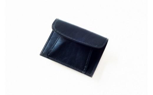 J002 本藍染イタリアンレザーのコインケース【本革・手縫い】