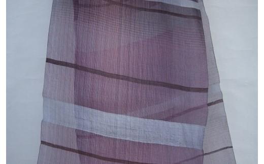 30F009 草木染 生絹 手織ストール