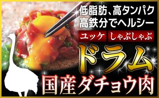 KT021 ダチョウ ドラム肉 850g(3~5パック)