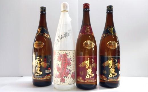 MK-1802_みやこざくらと霧島赤黒 一升瓶4本セット