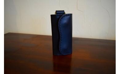 【高級牛革】手縫いキーケース(ブラック)