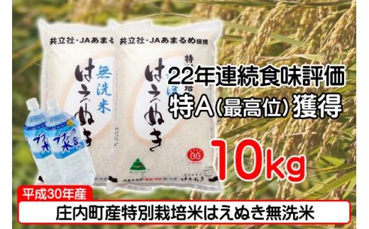 庄内町産特別栽培米はえぬき無洗米10kg