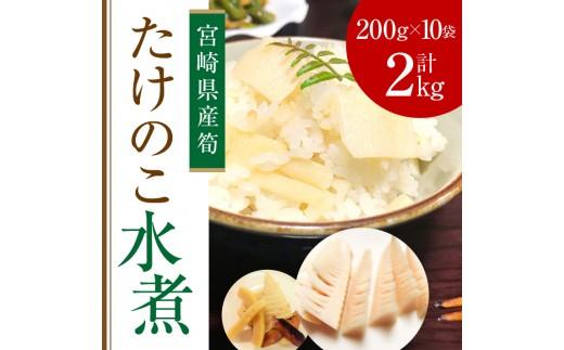Aa12 宮崎県産筍 たけのこ水煮2kg