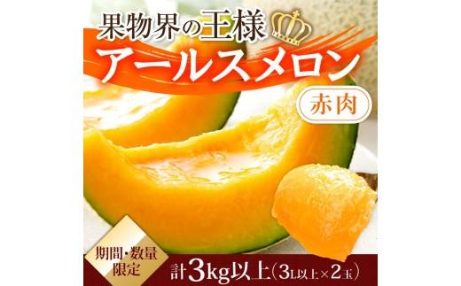A249 ★大地の恵み★アールスメロン(赤肉)(期間・数量限定特産品)