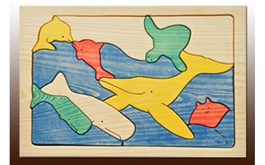 070 手づくりパズルシリーズ 海の仲間たち(くじら)