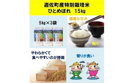 003-1 遊佐町産特別栽培米ひとめぼれ15kg【7月発送】