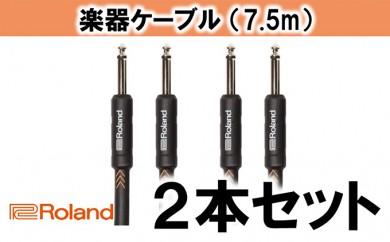 [№5786-1995]【Roland純正】楽器ケーブル 7.5m/RIC-B25 2本セット