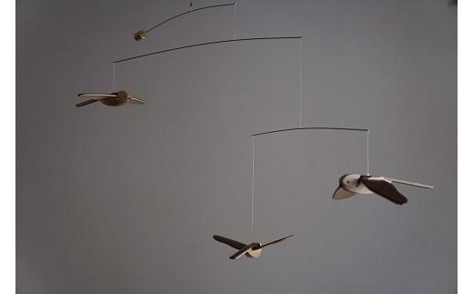 【0007003】「鳥たちの空」シマエナガモビール〈3羽組〉
