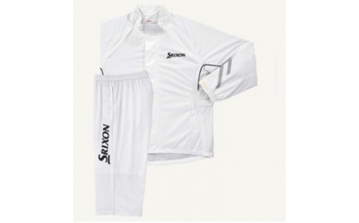 【52011】SRIXON レインジャケット&パンツ【ホワイト】