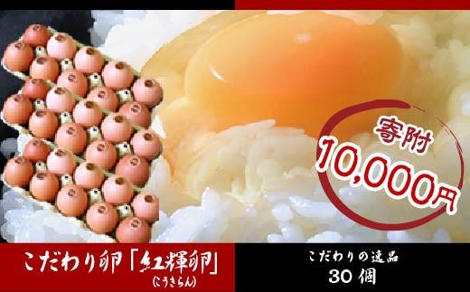 FY18-222 こだわり卵「紅輝卵 (こうきらん)」 30個