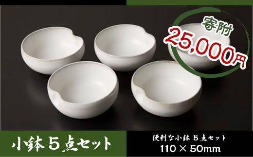 FY18-265 青龍窯 残雪釉小鉢 5点セット