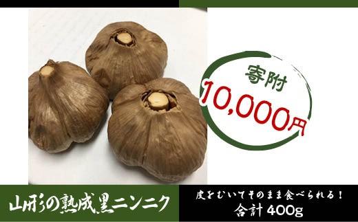 FY18-406 栄養満点! 山形の熟成黒ニンニク 400g (200g×2)