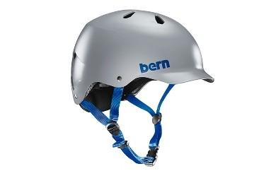 (サイズ:L)BERN スケートボード 自転車用(クロスバイク、マウンテンバイク、BMX)ヘルメット WATTS SATIN GREY