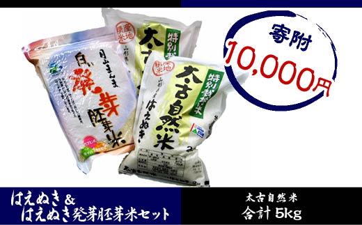 FY18-278 特別栽培米太古自然米はえぬき4kgはえぬき発芽胚芽米1kg