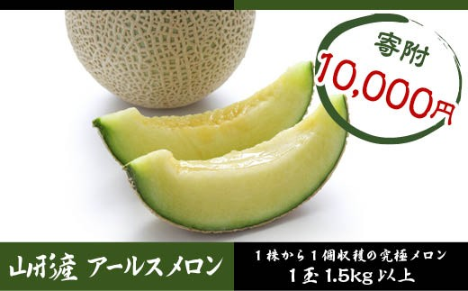 FY18-423 山形産 アールスメロン1玉 (1.5kg以上)