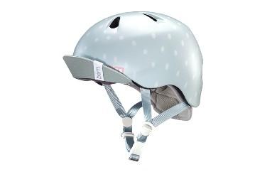 (S-M 4歳~6歳)BERNのジュニア、キッズ用ヘルメット GIRS SEAGLASS POLKA DOT